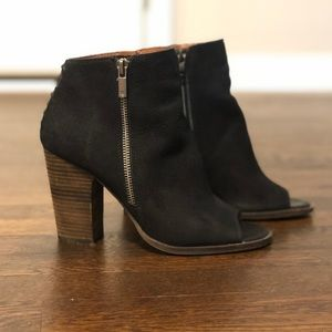 Lucky Brand Ankle Boots w/ Open Toe